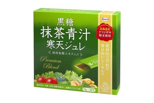 黒糖抹茶青汁寒天ジュレ3